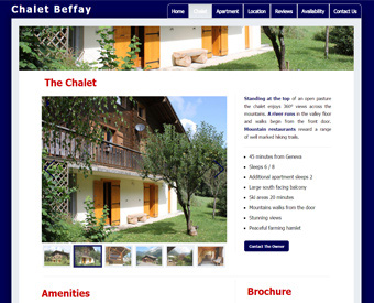 screenshot beffay website