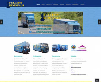 screenshot fullers removals website