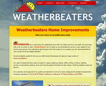 screenshot weatherbeaters website